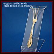 King Richard lemon fork in sterling silver by Towle
