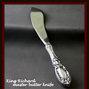 King Richard master butter knife in sterling by Towle Silversmiths