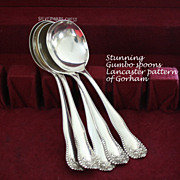 SALE Lancaster by Gorham  gumbo soup spoons