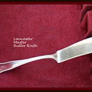 Lancaster by Gorham master butter knife in solid sterling