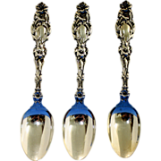 REDUCED Lily sterling teaspoons by Whiting Mfg. Co, ca 1902