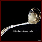 Old Atlanta gravy ladle in sterling by Wallace