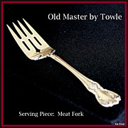 Old Master cold meat fork in solid sterling by Towle Silversmiths