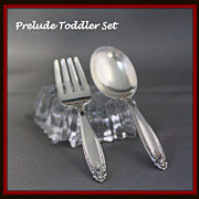 Prelude toddler set of sterling baby knife and fork by International