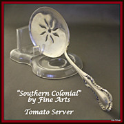 Southern Colonial tomato server in solid sterling by Fine Arts Sterling Silver Co.