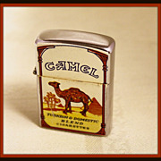 Camel cigarette lighter with vintage descriptors
