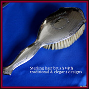 REDUCED Sterling hair brush to complement any vanity in the bedroom or bath