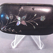 Vintage Lacquer Abalone /Inlay Snuff Box