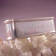 Sterling Lunt Napkin Ring/Jane