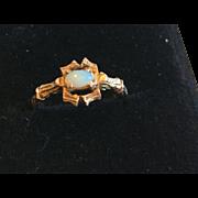 14k Opal Ring Bamboo style Setting