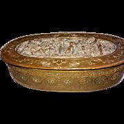 Vintage French Bronze Box Pastoral Scene