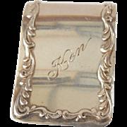 Vintage Kirk Sterling Silver Money Clip/Ken