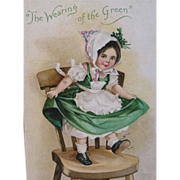 SALE 1908 Embossed St. Patrick's Day Postcard - The Wearing of the Green