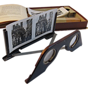 Raumbild-Verlag Stereoscope Germany 3-D Complete with 23 Black and White Pictures