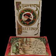 Two Vintage Santa Claus Postcards