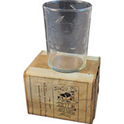 Vintage Prank Adams Dribble Glass in Original Box