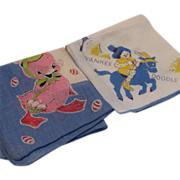 SOLD 2 Vintage Child Hankies Yankee Doodle and Chicks - Red Tag Sale Item