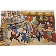 SOLD Alfred Mainzer Dressed Cats Postcard Max Kunzli Illustrated Zurich, Switzerland Cats at t