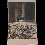 Chiesa Degli Scalzi Church Real Photo Postcard - WWI Bombardment Destruction