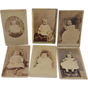 Six Baby Cabinet Card Photographs