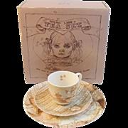 Vintage Lenox Young Lady's Tea Set in Original Box