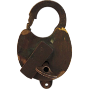HBT - Houston Belt Terminal Railroad Brass Lock with Key
