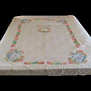 Huge Vintage Hawaiian Tablecloth