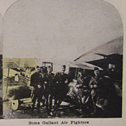 WWI World War 1 Stereoview Card - Some Gallant Air Fighters