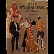 Tom Tierney Paper Dolls Uncut, Rudolph Valentino & Leading Ladies 1979