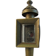 Victorian Brass Carriage Lamp