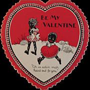 SALE Black Americana Heart Valentine