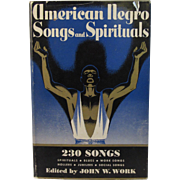 SOLD 1940 American Negro Songs and Spirituals Book