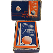 SOLD 1939 New York World's Fair Deck of Playing Cards