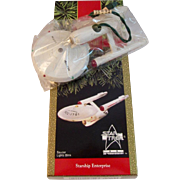 SOLD 1991 Starship Enterprise Hallmark Ornament in Original Box Star Trek 25th Anniversary Chr