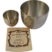 2 Stieff Pewter Jefferson Cups
