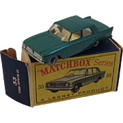 Matchbox Lesney 33 Ford Zephyr III