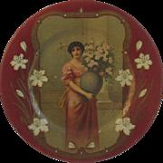 Vienna Art Tin Litho Asti Lady Plate