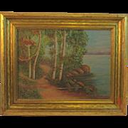 Local Artist A. Varnon Landscape Oil Painting