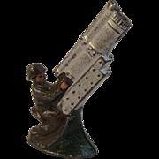 Japan Triple Barrel Anti-Aircraft Gun Metal Toy