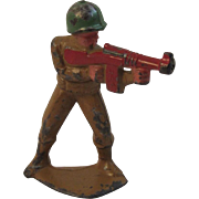 Manoil 45/12 Machine Gunner Toy Soldier