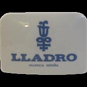 Vintage Lladro Dealer Sign Advertising Porcelain Shelf Marker