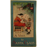 A Visit to Santa Claus Victorian Lithograph Illustrated Children's Book