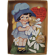 Vintage Valentine with Candy in Original Box