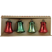 Shiny Brite Glass Bell Ornaments in Original Box