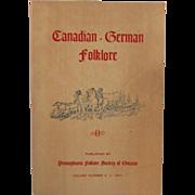 Canadian German Folklore Vol 4 1971 Pioneers of Waterloo 1799 to 1889