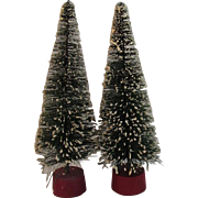 10 Inch Flocked Bottle Brush Trees