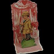 Victorian German Die Cut Miniature Pop Up Valentine
