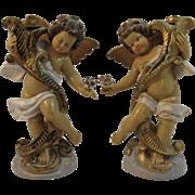 Italian Cherub CandleSticks Candle Holders
