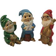 Vintage Christmas Musical Gnomes Elves RB Japan