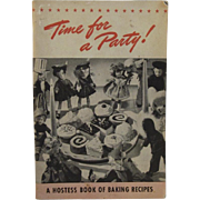 1940 Time for a Party Cookbook with Dolls